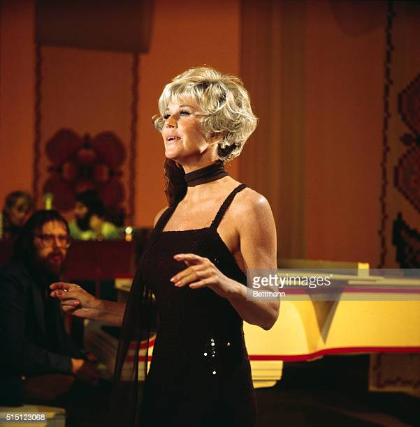 Close-up of actress Doris Day .