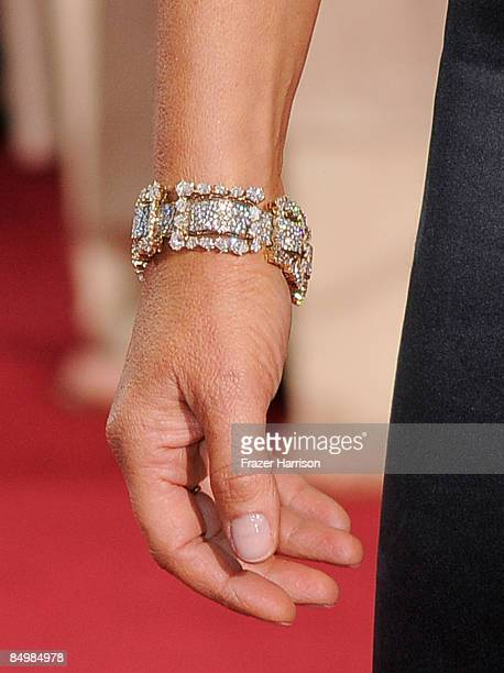 Close-up of actress Jo Wilder's bracelet at the 81st Annual Academy Awards held at Kodak Theatre on February 22, 2009 in Los Angeles, California.