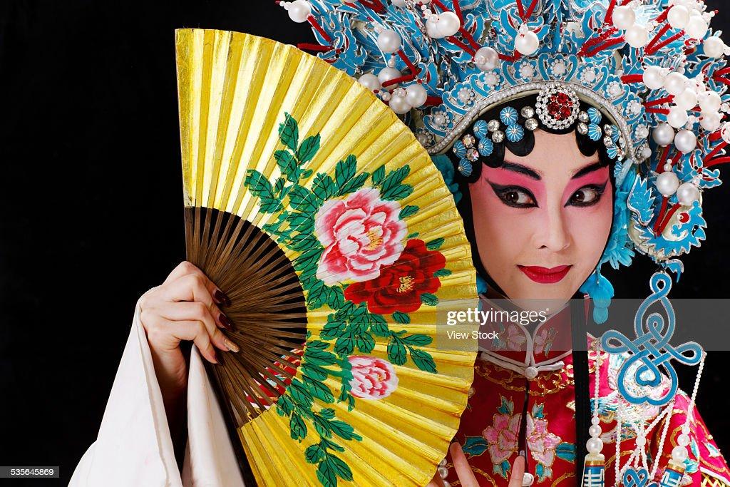 Close-up of actress : Stock Photo
