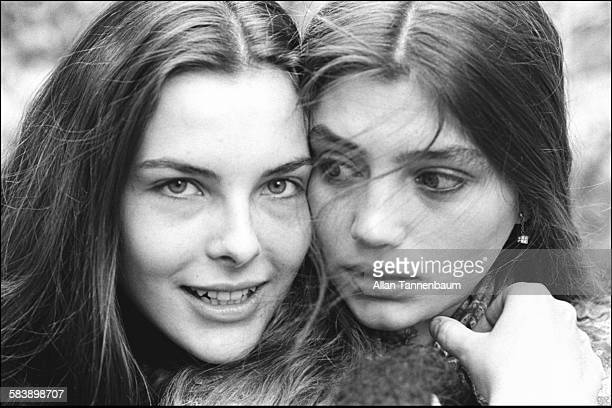 Closeup of actresses Carole Bouquet and Angela Molina New York New York November 16 1977 They appeared in Luis Bunuel's film 'That Obscure Object of...