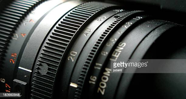 Close-up of adjustable camera lens
