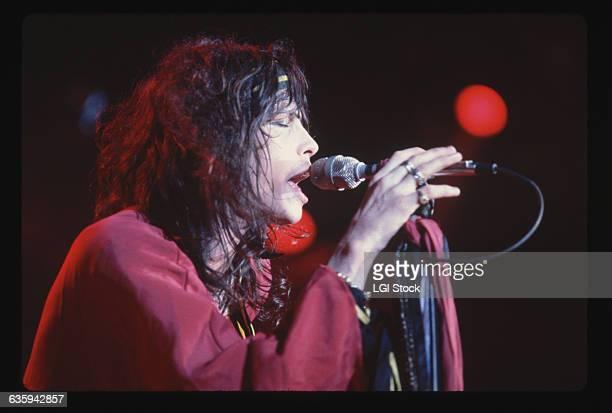 Closeup of Aerosmith's Steven Tyler in Concert