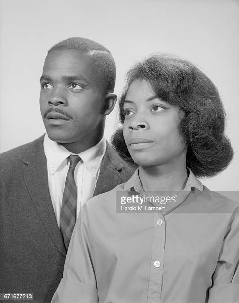 close-up of african american man and woman - {{ collectponotification.cta }} foto e immagini stock