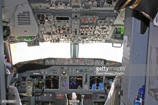 Close-Up Of Airplane Cockpit