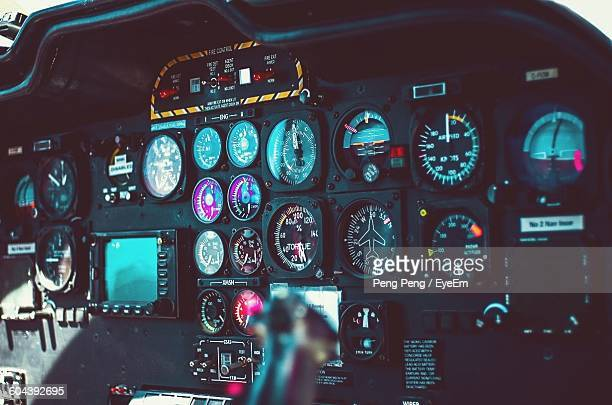 Close-Up Of Airplane Dashboard