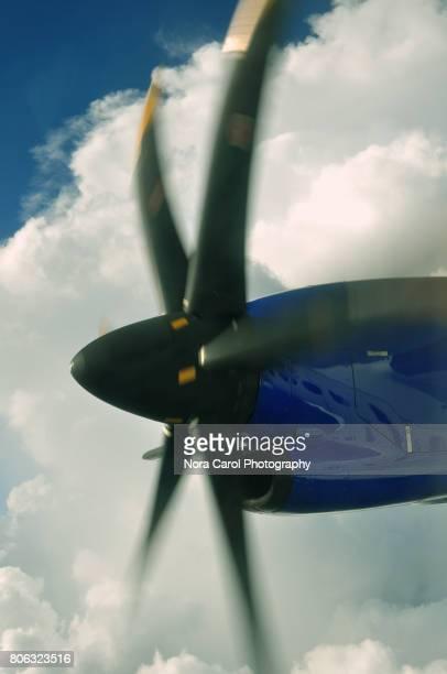 Closeup of Airplane Propeller