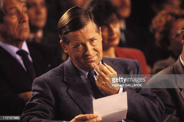 Closeup of Alain Duhamel Journalist in France in 1993