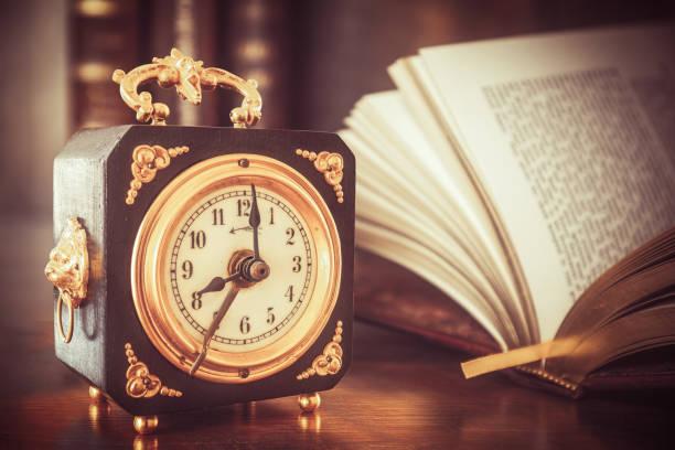 Close-up of alarm clock on table,McKinney,Texas,United States,USA