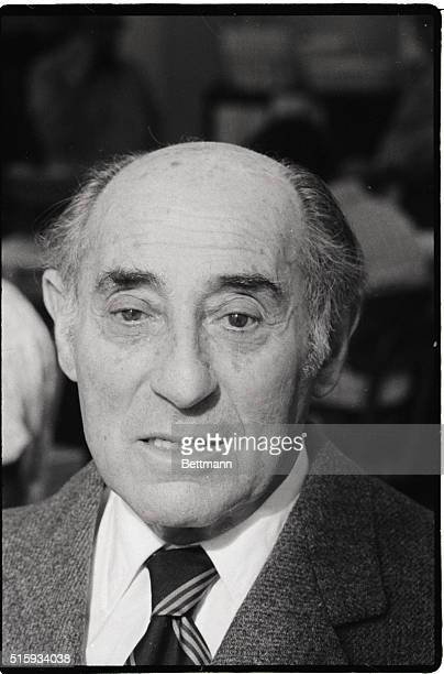 Close-up of Alfred Eisenstaedt, famed Life Magazine photographer.
