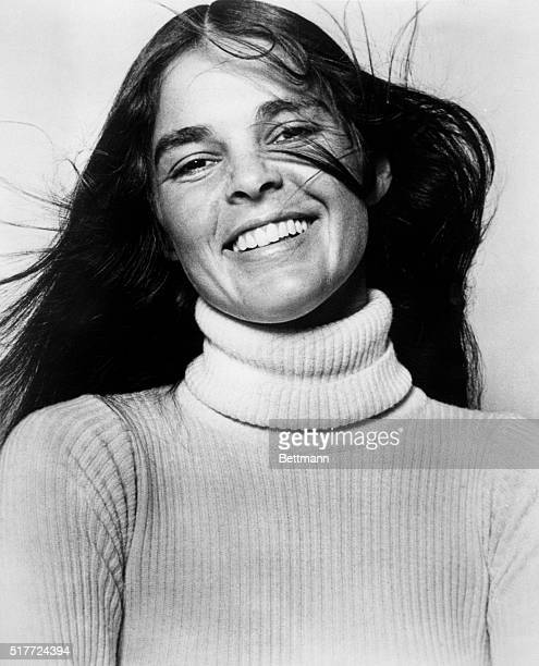 Close-up of Ali MacGraw, actress in the movie, Love Story. Filed January 10, 1971