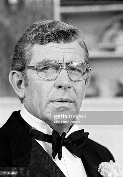 Close-up of American actor Andy Griffith during an appearance on 'The Sonny and Cher Comedy Hour,' November 16, 1972.
