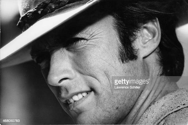 Closeup of American actor Clint Eastwood during the production of the film 'Paint Your Wagon' Baker Oregon 1969