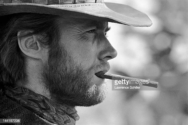 Closeup of American actor Clint Eastwood in costume during the filming of 'Two Mules for Sister Sara' Durango Mexico 1969