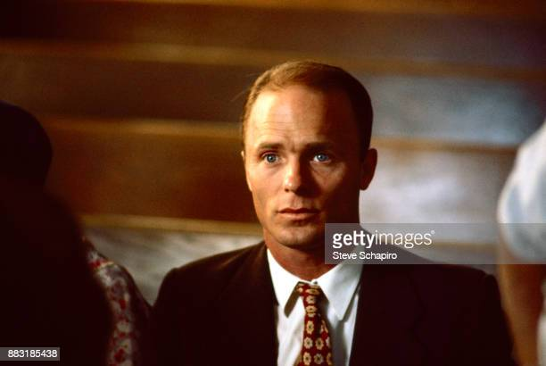 Closeup of American actor Ed Harris in a scene from the film 'Places in the Heart' 1983