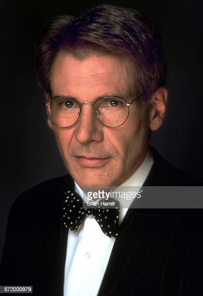 Closeup of American actor Harrison Ford in the film 'Sabrina' 1995