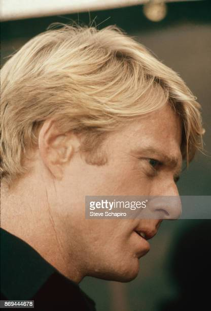 Closeup of American actor Robert Redford on the set of the film 'The Way We Were' Los Angeles California 1972