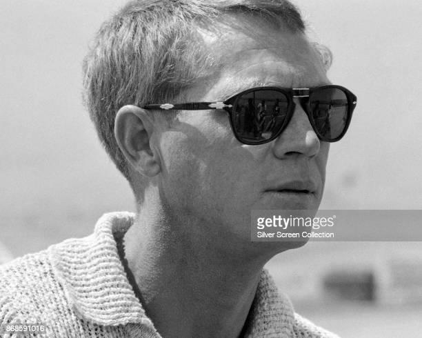 Closeup of American actor Steve McQueen in closeups late 1960s