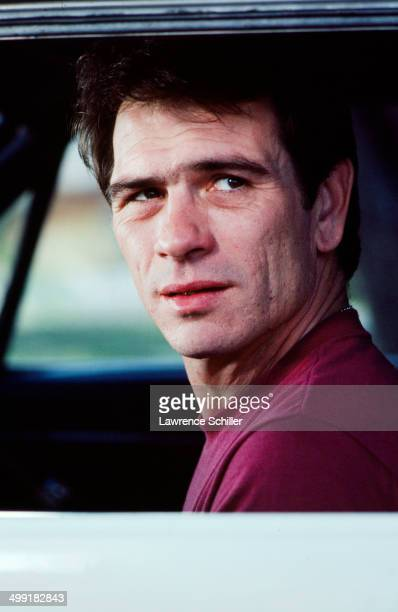 Closeup of American actor Tommy Lee Jones in a scene from the madefortelevision movie 'The Executioner's Song' Utah 1981 Jones won the Emmy Award for...