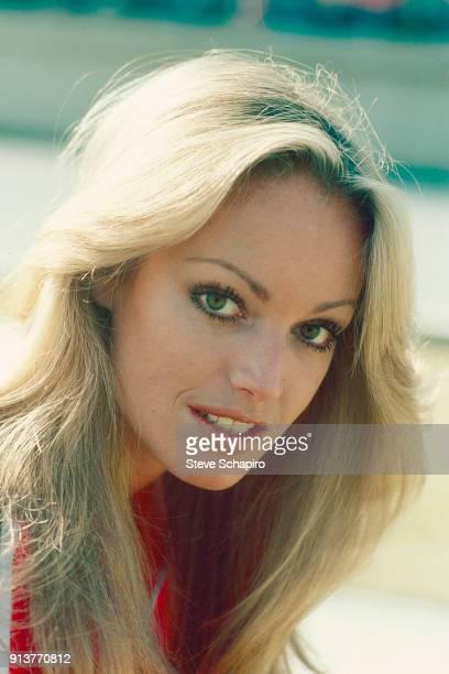 Closeup of American actress Susan Anton Los Angeles California 1978