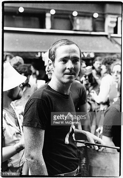 Closeup of American Air Force Technical Sergeant and gay rights activist Leonard Matlovich during the Sixth Annual Gay Pride Day march New York New...