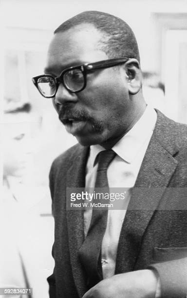 Closeup of American artist Jacob Lawrence at the Guggenheim Museum New York New York January 28 1962