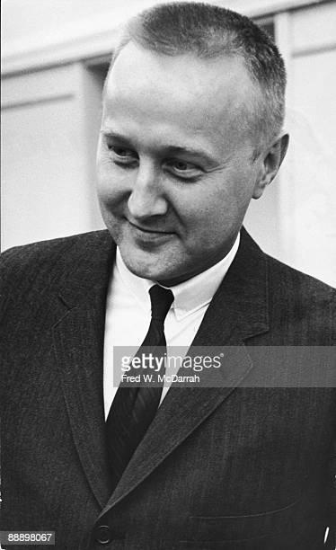Closeup of American artist Richard Anuszkiewicz as he smiles September 24 1963