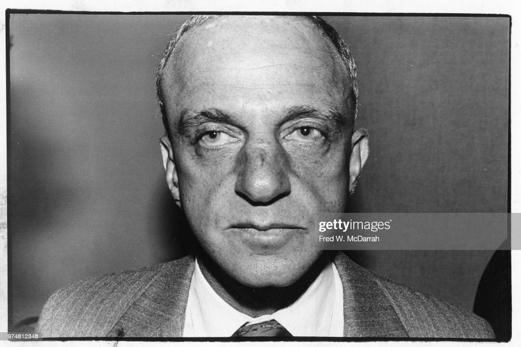 Close-up of American attorney Roy Cohn (1927 - 1986) as he attends a Friar's Club Roast, New York, New York, July 21, 1977.