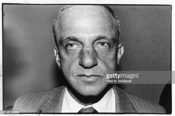 Closeup of American attorney Roy Cohn as he attends a Friar's Club Roast New York New York July 21 1977