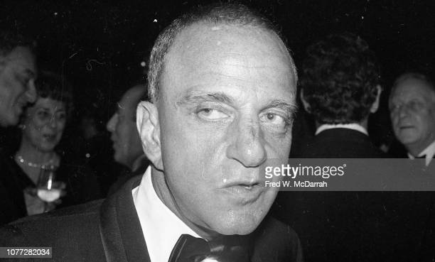 Closeup of American attorney Roy Cohn during his birthday party at the Seventh Regiment Armory New York New York February 22 1981