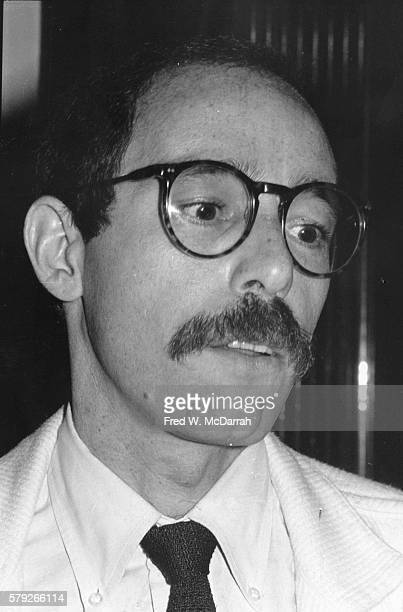 Closeup of American author film historian and gay rights activist Vito Russo May 13 1982