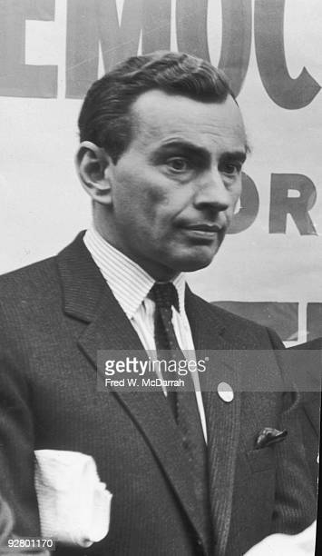 Closeup of American author Gore Vidal at a Democrats for Keating campaign event October 2 1964 The group was backing Senator Kenneth Keating a...