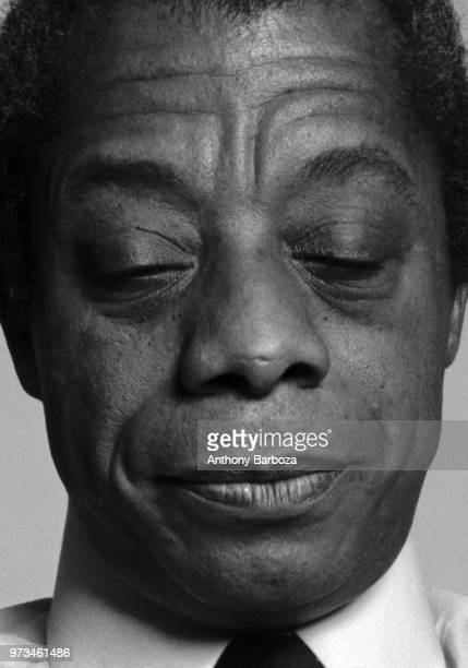 Closeup of American author James Baldwin New York New York 1975