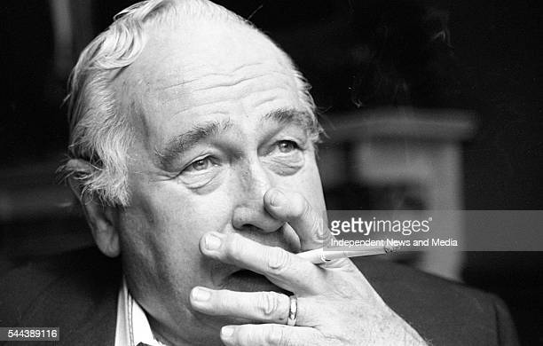 Close-up of American author Robert Ludlum in the Shelbourne Hotel, Dublin, Ireland, April 17, 1993.