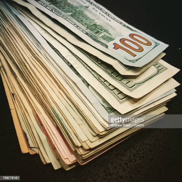 Close-Up Of American Bank Notes