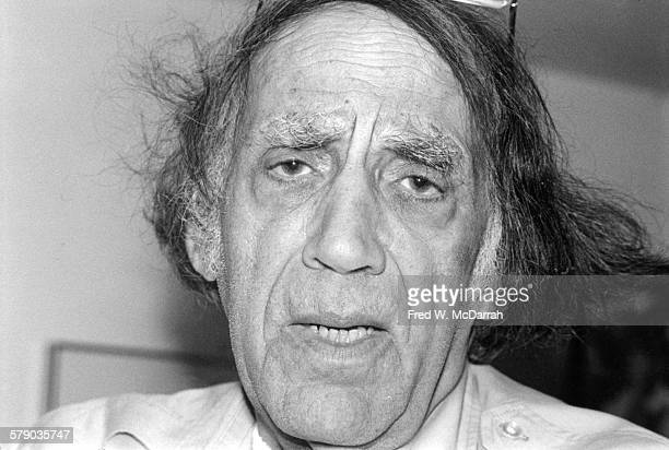 Closeup of American Civil Rights activist and lawyer William Kunstler as he poses in his office New York New York January 25 1991