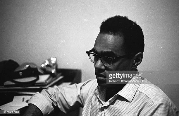 Closeup of American Civil Rights activist Robert Parris Moses New York 1964