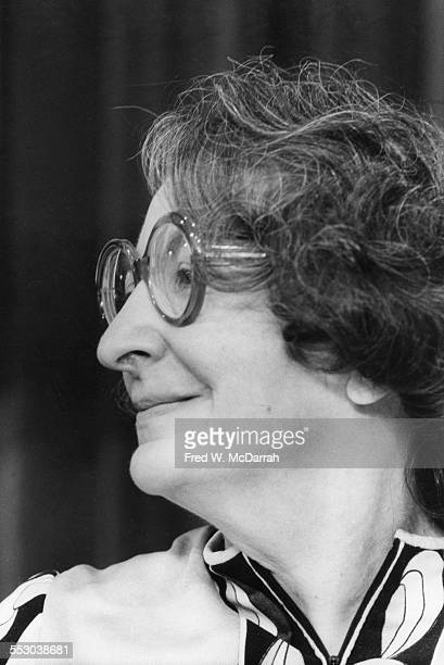 Closeup of American film critic Pauline Kael at the AJ Liebling CounterConvention New York New York April 23 1972 The convention named after noted...