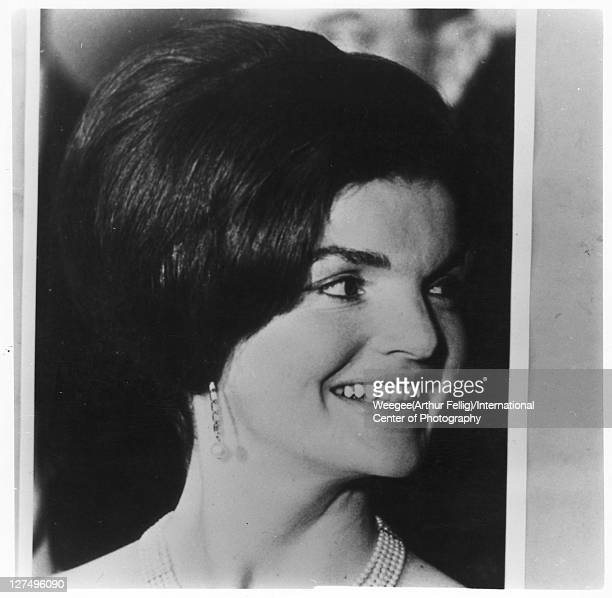 Closeup of American First Lady Jacqueline Kennedy 1960s Photo by Weegee/International Center of Photography/Getty Images