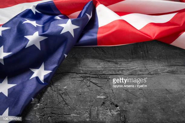 close-up of american flag on table - independence day stock pictures, royalty-free photos & images