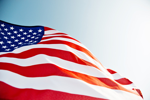Close-up of American flag 1094759516