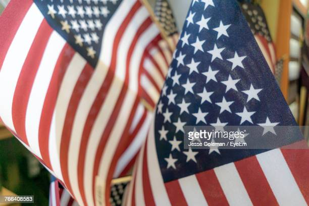 close-up of american flags - jesse coleman imagens e fotografias de stock