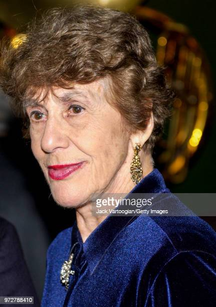 Closeup of American Jazz music advocate and nightclub owner Lorraine Gordon as she attends the 70th anniversary party of her club the Village...