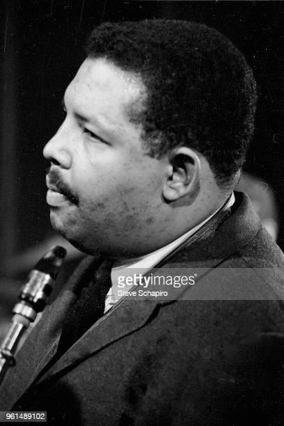Closeup of American Jazz musician Julian Cannonball Adderley New York 1961