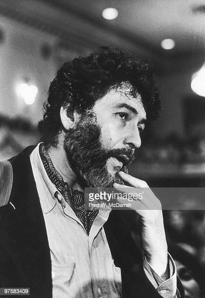 Closeup of American journalist and music critic Nat Hentoff as he attends the AJ Liebling CounterConvention New York New York May 10 1974 The...