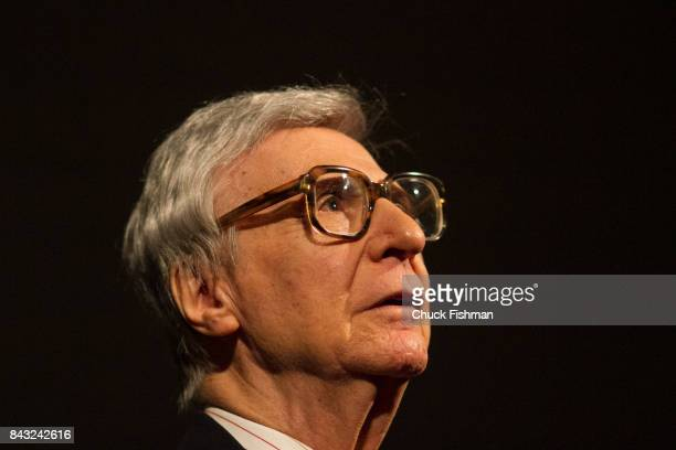 Closeup of American mentalist Kreskin as he performs onstage during the Chocolate Expo at the Maritime Aquarium Norwalk Connecticut January 29 2017