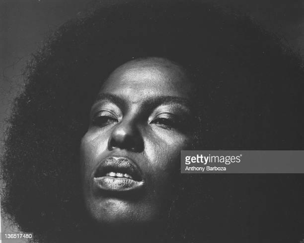 Closeup of American musician and singer Roberta Flack New York New York 1971