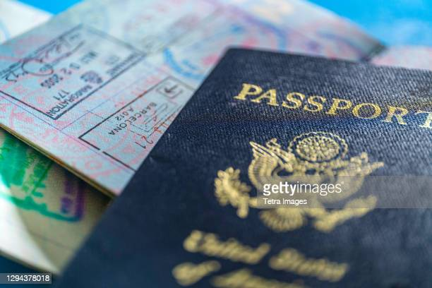 close-up of american passport - american culture stock pictures, royalty-free photos & images