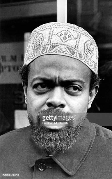 Closeup of American poet and playwright Amiri Baraka New York New York October 31 1972
