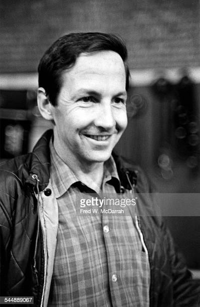 Closeup of American Pop artist Robert Rauschenberg New York New York October 18 1966