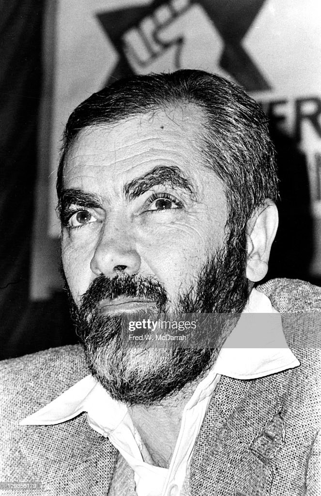 Close-up of American Rabbi and Isreali politician Meir Kahane (1923 - 1990), founder of the Jewish Defense League (JDL), at a JDL press conference in the Biltmore Hotel, New York, New York, January 11, 1981.